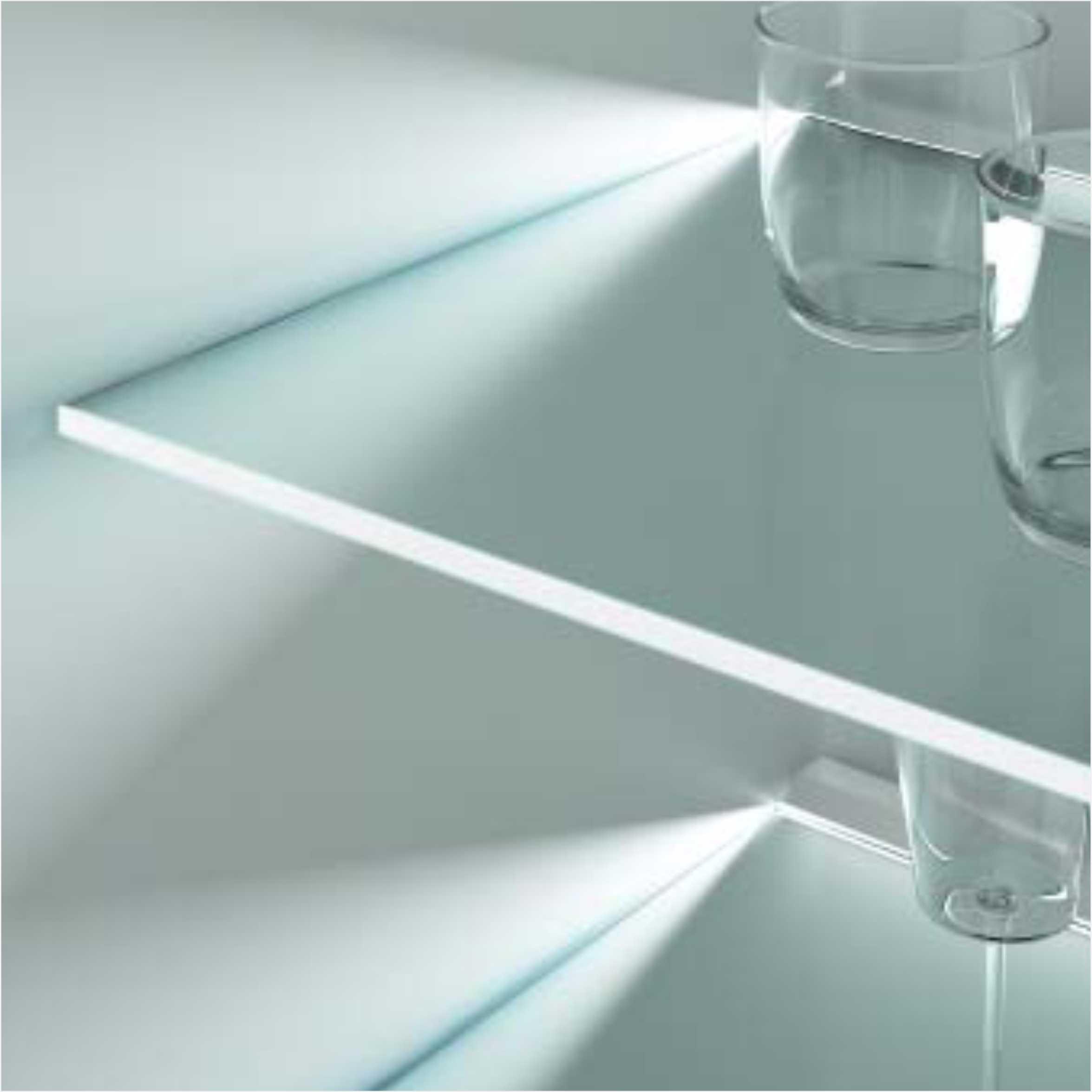 Glass Edge Clip LED Shelf Cabinet Light 2750