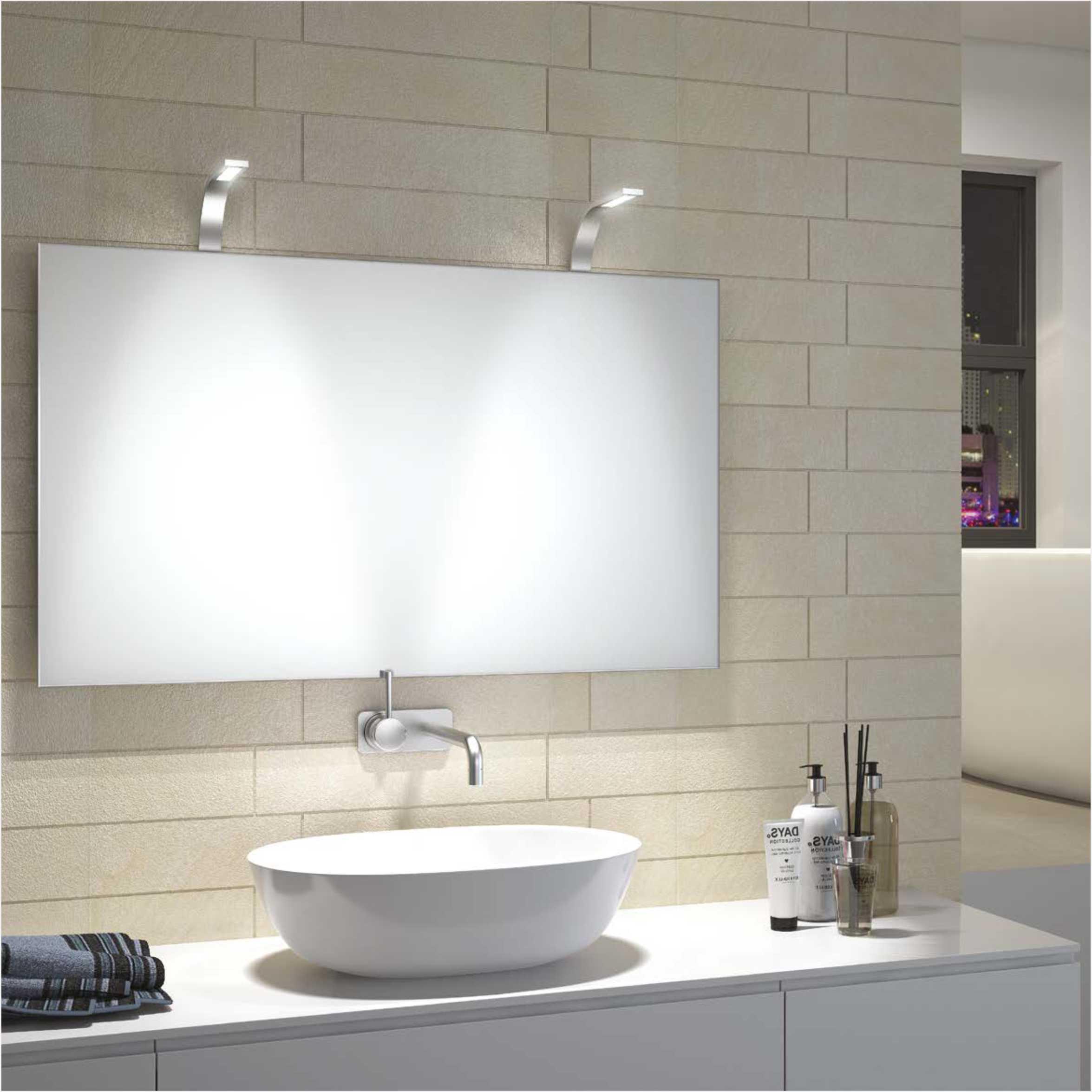 Modern Design Chrome Plated Aluminum IP44 3W LED Mirror Light 2901