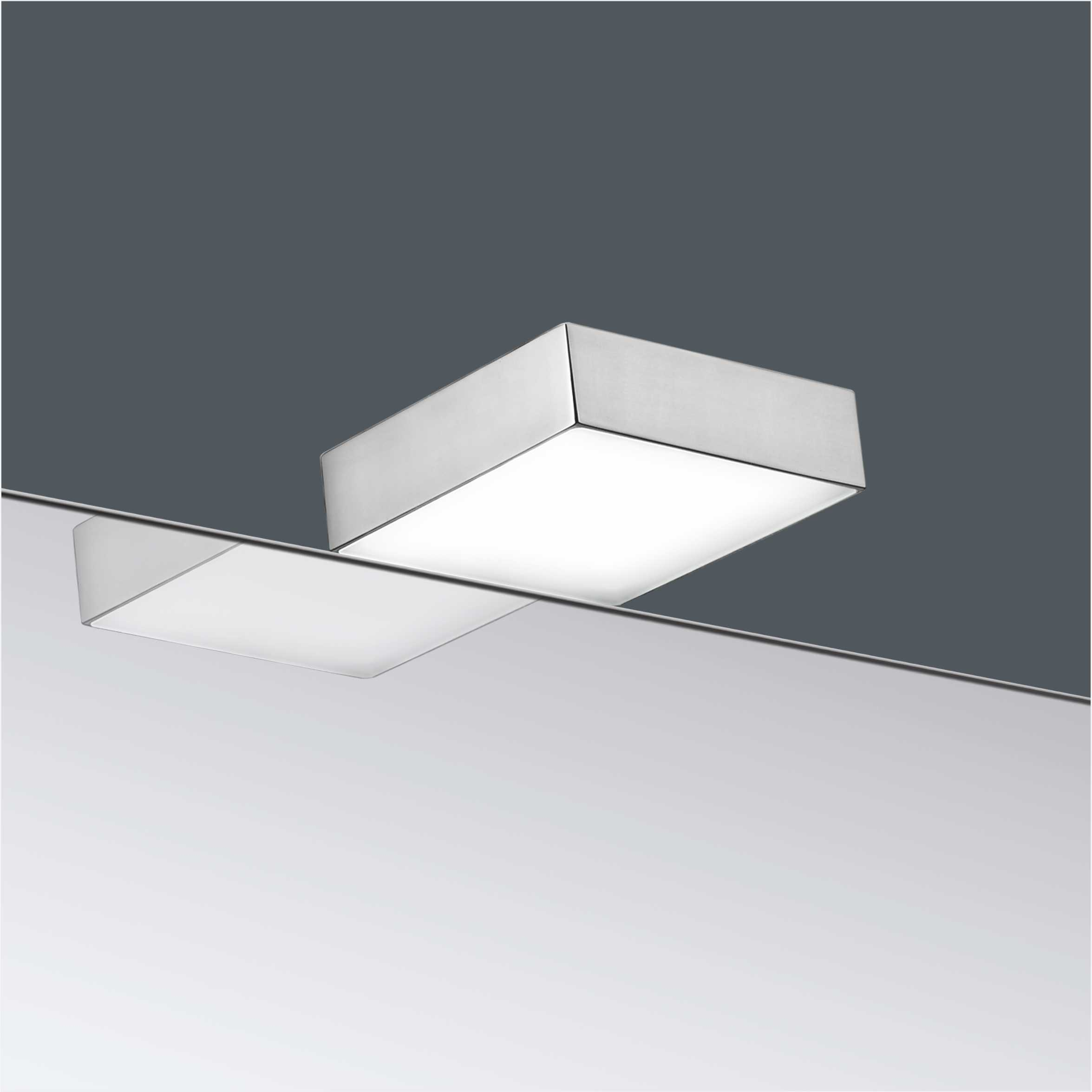 IP44 Square High Voltage LED Bathroom Mirror Light 2975