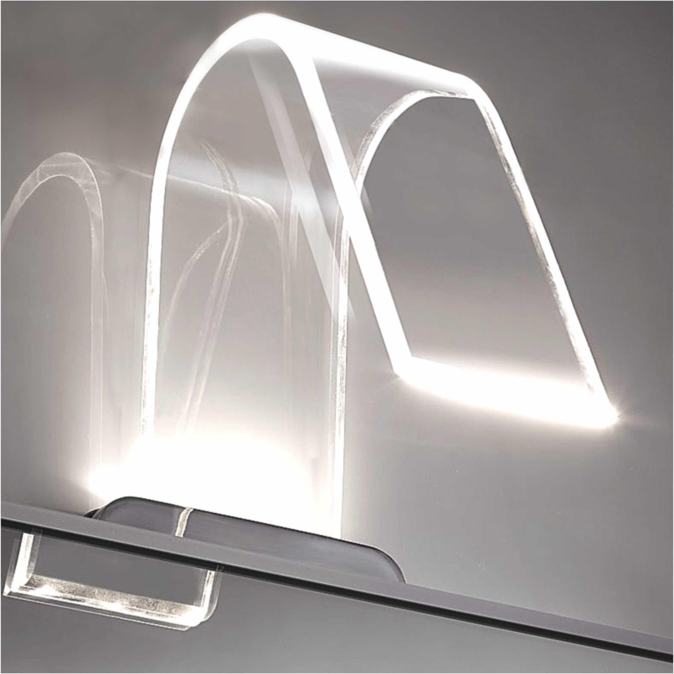 IP44 Modern Design LED Bathroom Mirror Light With Curved Acrylic Shade 2988