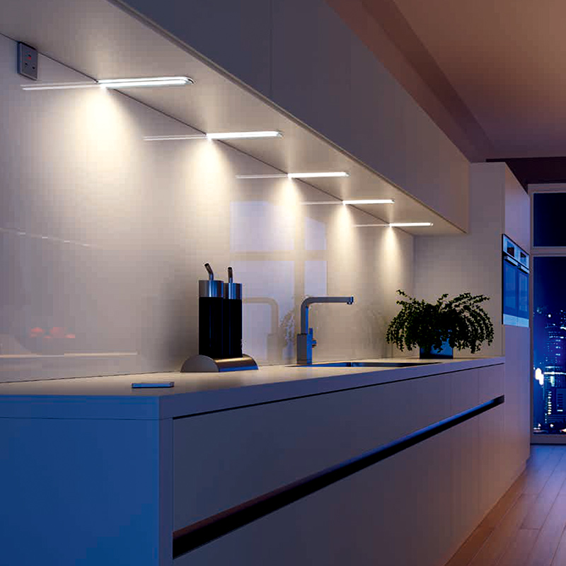 Simple Design 12V LED Round Edge Under Kitchen Cabinet Light 2810