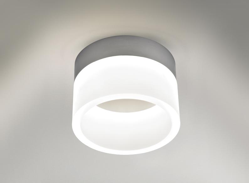 Circular Chrome And Acrylic Bathroom Ceiling Light 6351