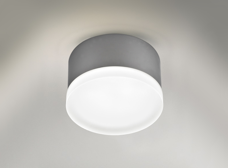 Small Flush Acrylic Bathroom Ceiling Light Polished Chrome 6353