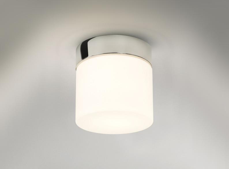Vigor White  E27 LED Bright Bathroom Ceiling Light IP44