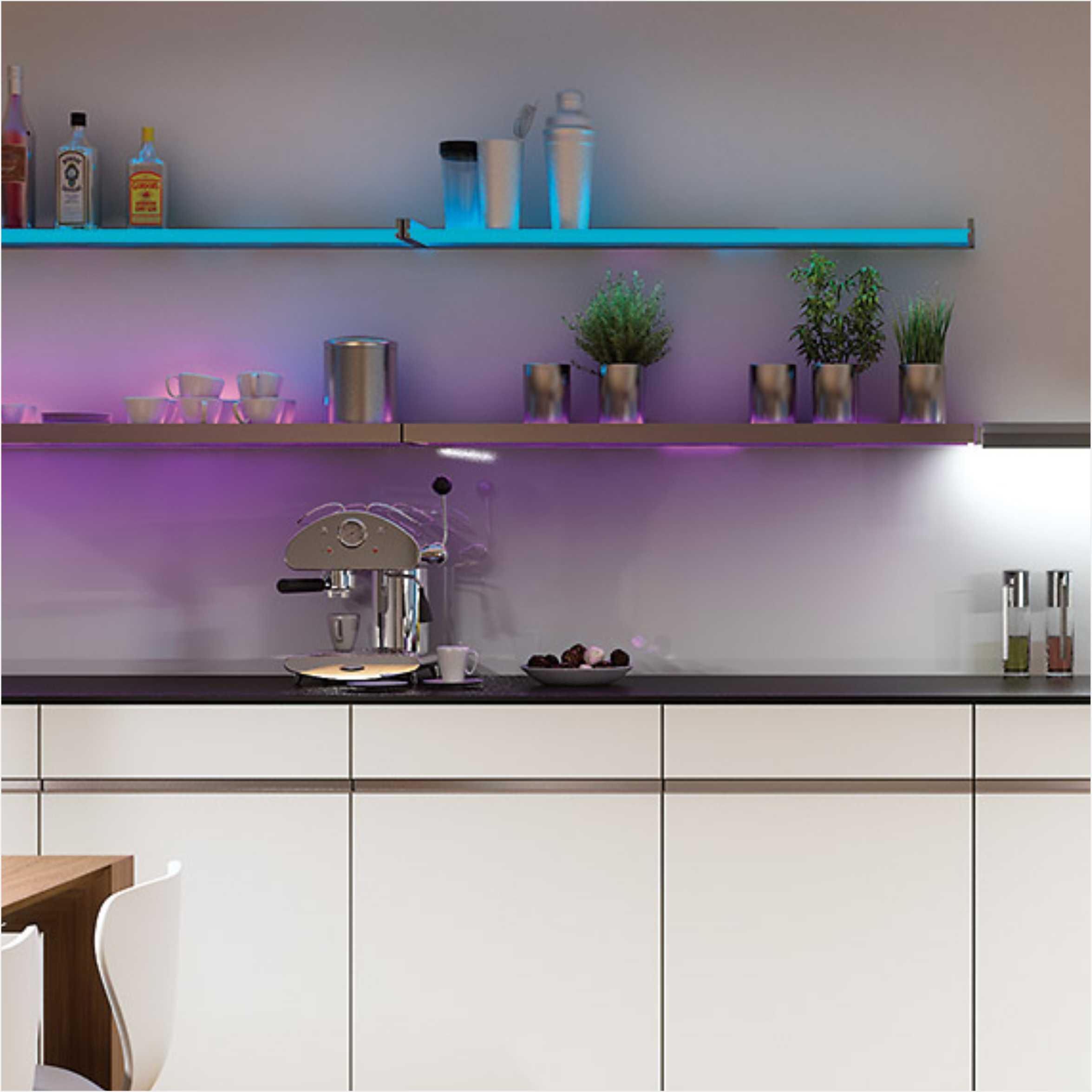 Aluminum LED Showcase Glass Shelf Light 6781
