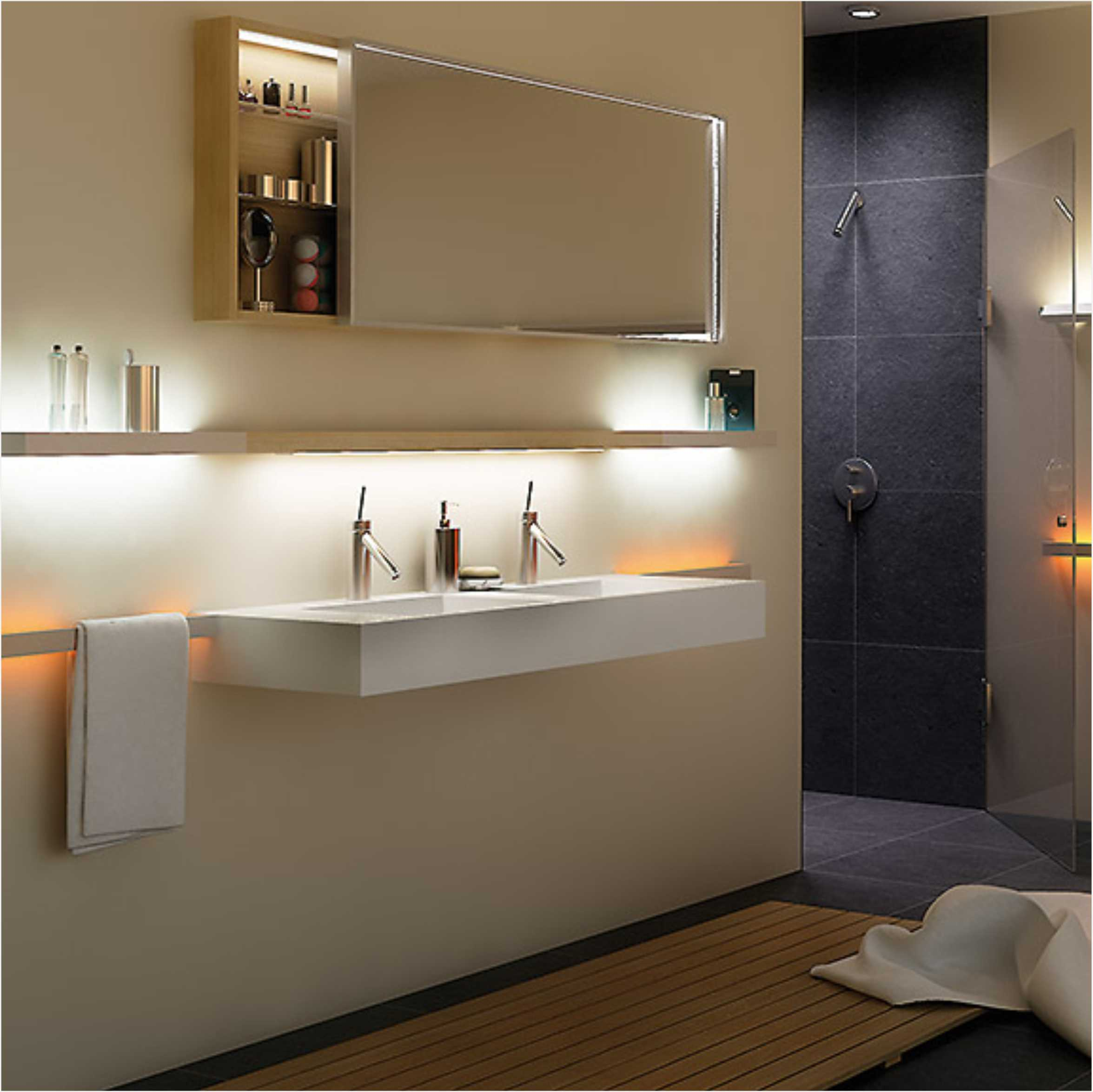 Illuminated LED Wall Light For Towel Hanging 6782