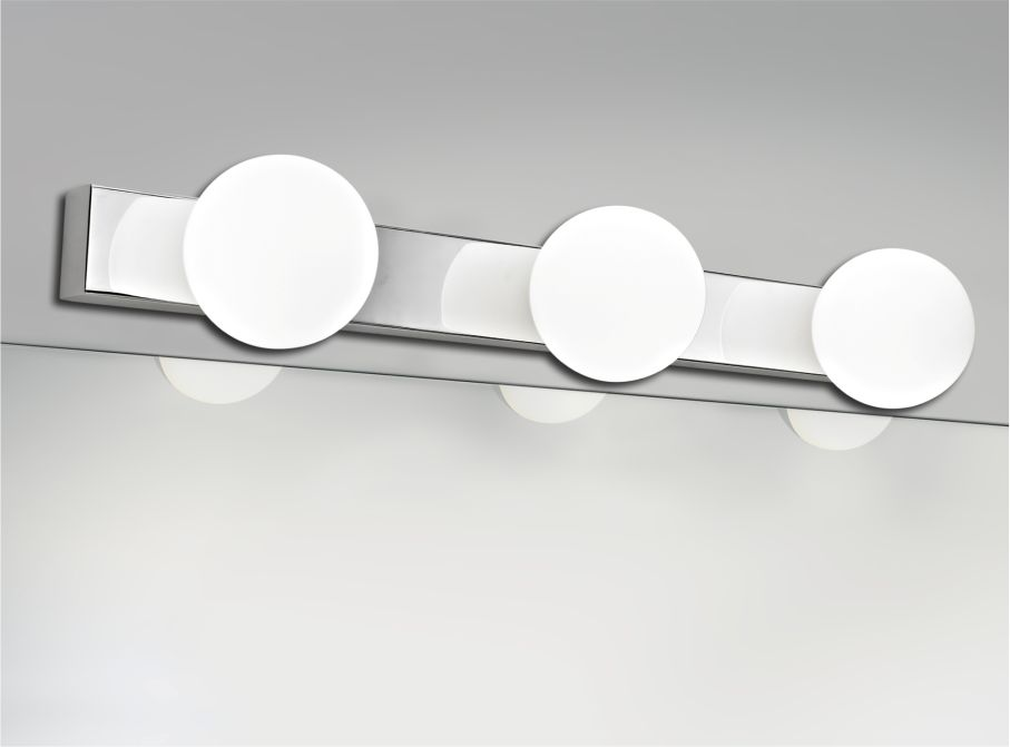 IP44 Rated Wall Light With Opal Ball Glass Shades 6803/6805
