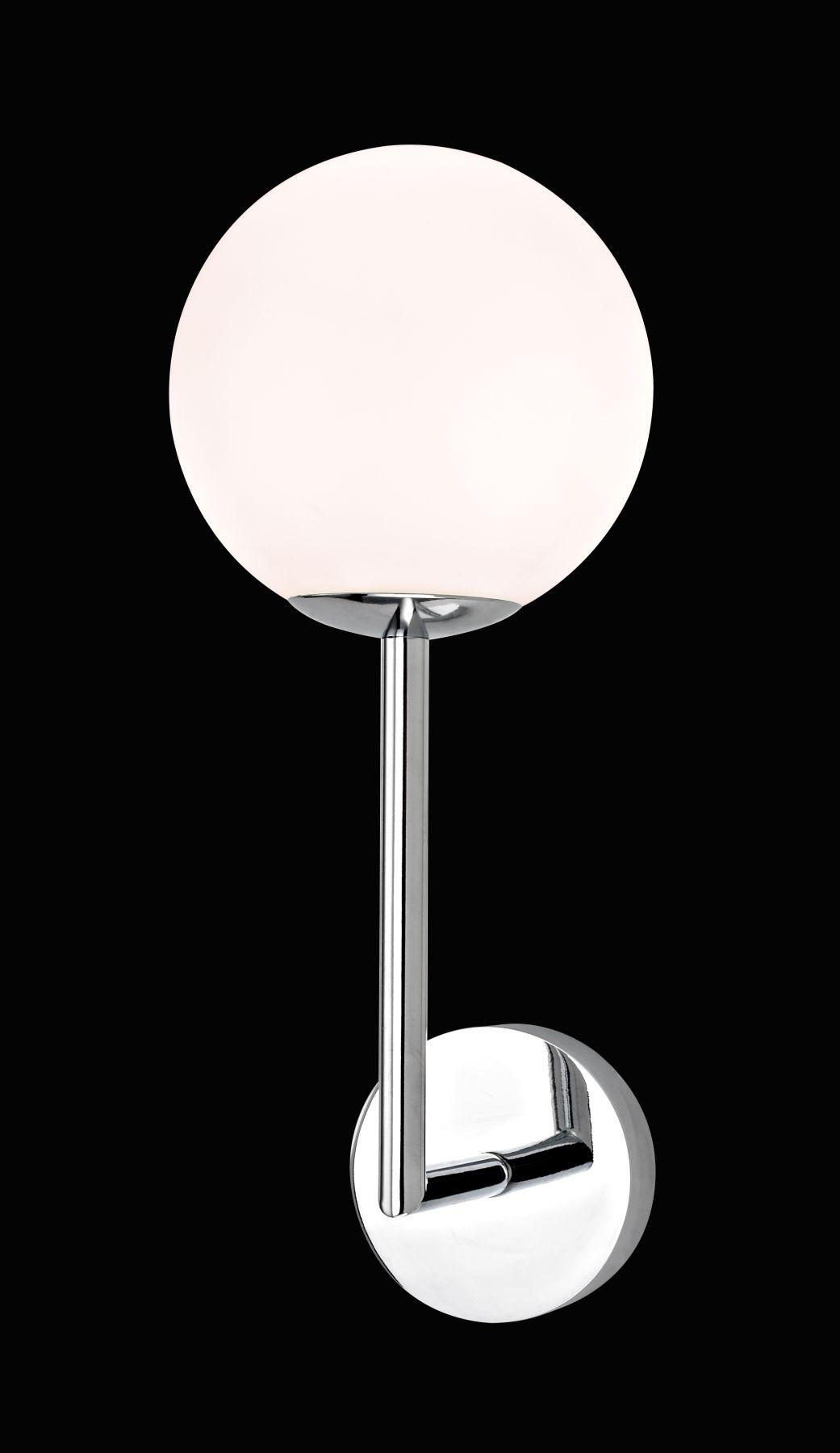 Single Light Wall Light Opal White Ball Glass 6821