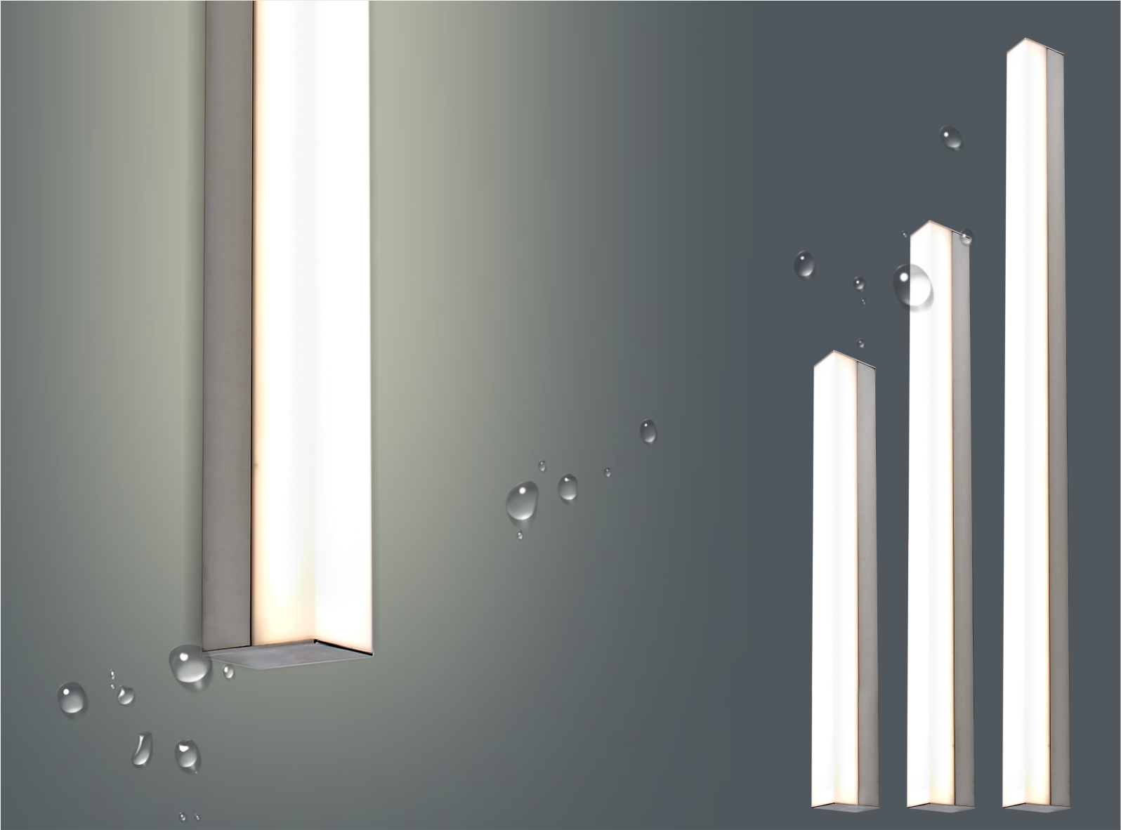 IP44 Contemporary Linear LED Bathroom Wall Mirror Light 6998