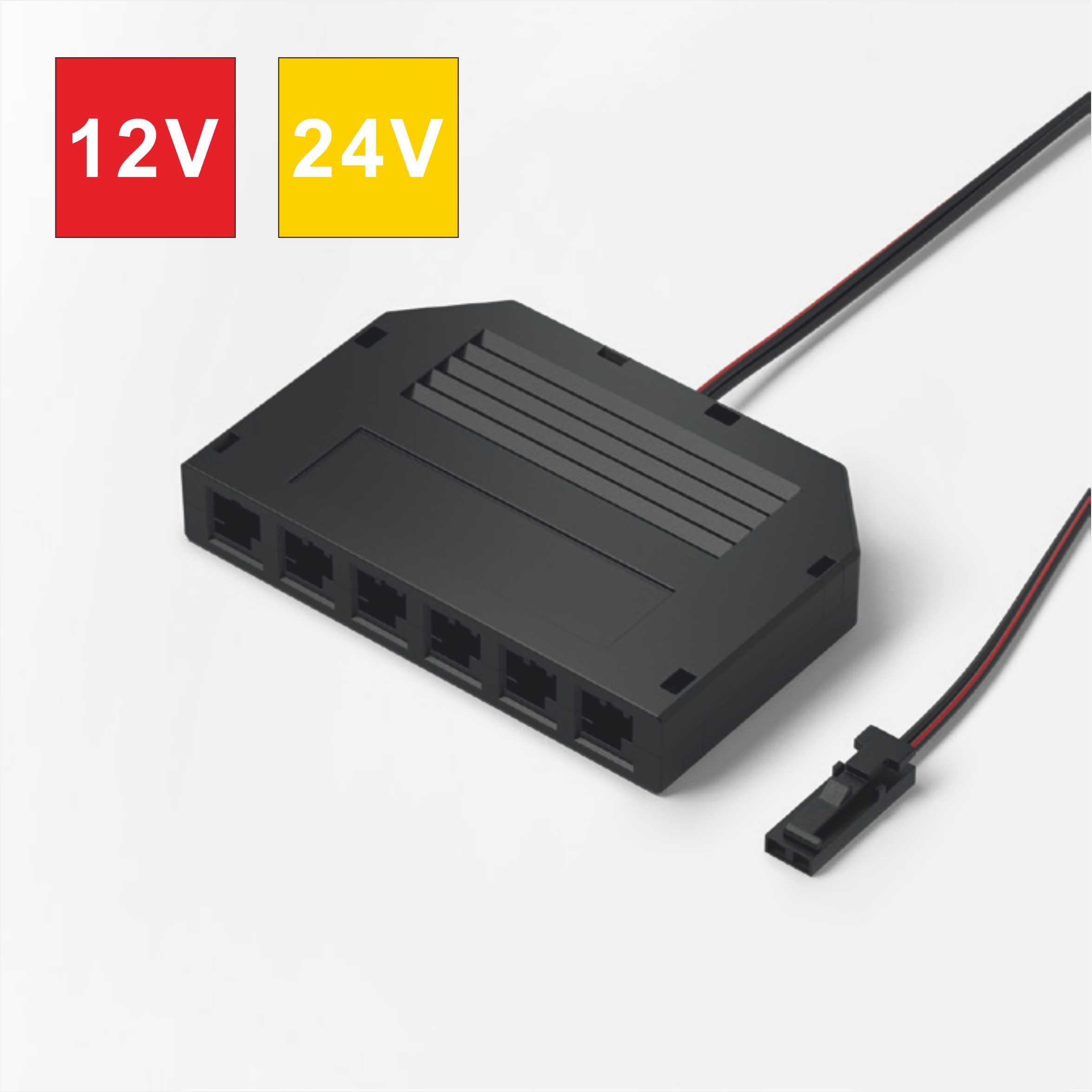 12V/24V 3A LED Mini 6-Way Distributor for Constant Voltage Lightings 9518.062