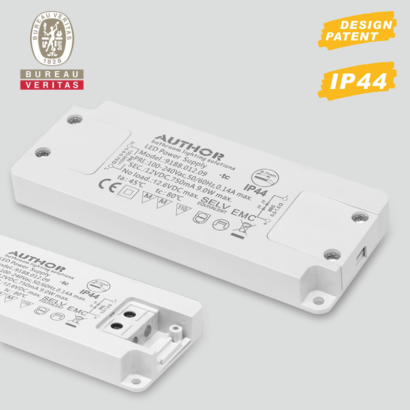IP44 waterproof 13mm thickness super slim LED driver, LED power supply 9188